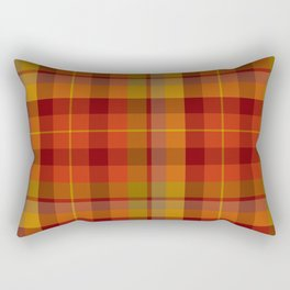 Plaid Check Stripe Pattern in Christmas Colors Rectangular Pillow
