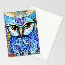 Spirit Owl, original illustration from Spirit Owl Series by Artist Sheridon Rayment Stationery Cards