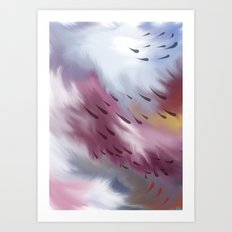 Tears and clouds Art Print