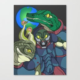 3 Reptilian Earth Canvas Print