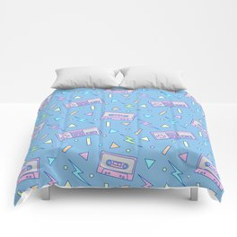 80s Video Games and Mix Tapes Comforters