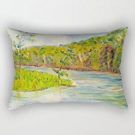 Pleasant Day at Ogle Lake Rectangular Pillow
