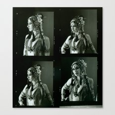 Old Contact Sheet of Rachel Brice 2 Canvas Print