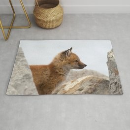 Watercolor Fox, Red Fox 41, Union Reservoir, Boulder Rug