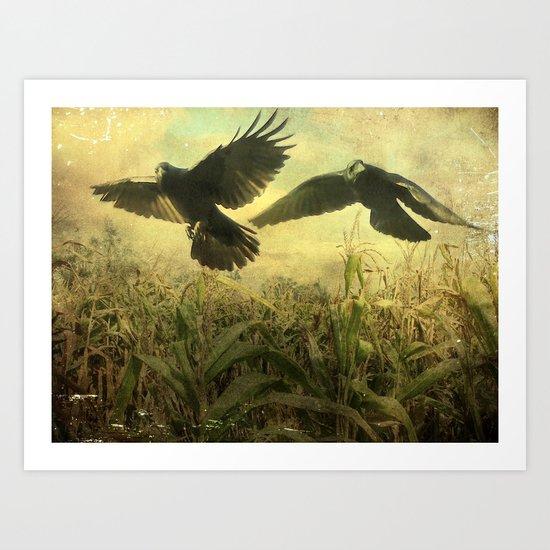 Crows Of The Corn Art Print