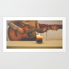 A Musician's Moment Art Print