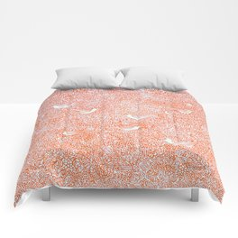 Orange Ornate Comforters