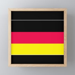 Striped , black , yellow , red Framed Mini Art Print