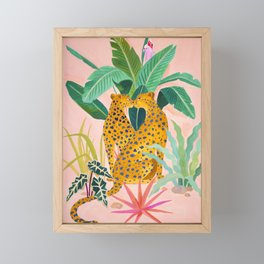 Cheetah Crush Framed Mini Art Print