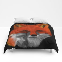Red Fox Watercolor Drawing Comforters