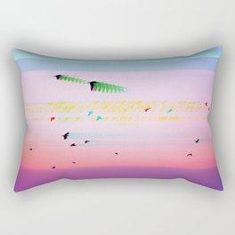 Birds Transcending Time Rectangular Pillow