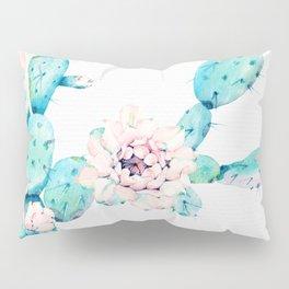 Desert Cactus Rose Pillow Sham