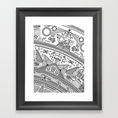 Four - Version 2 (with details) Framed Art Print