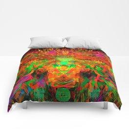 The Flying Shaman (Tribal Zest) Comforters