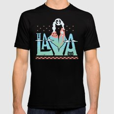 One Lava MEDIUM Mens Fitted Tee Black
