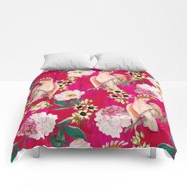 Vintage & Shabby Chic - Tropical Bird Flower Garden Comforters
