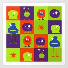 Monsters Art Print