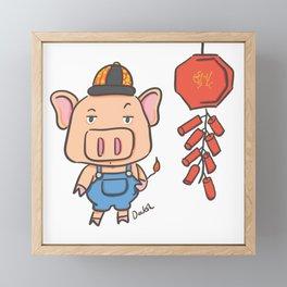 Lunar New Year 2019 Framed Mini Art Print