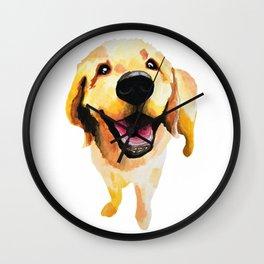 Good Boy / Yellow Labrador Retriever dog art Wall Clock