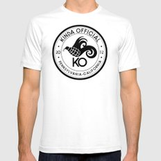 Kinda Official White SMALL Mens Fitted Tee