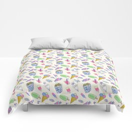 Popart candy and ice-cream Comforters