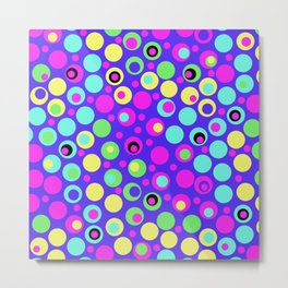 Polka Dot Party: Deluxe Brights Metal Print