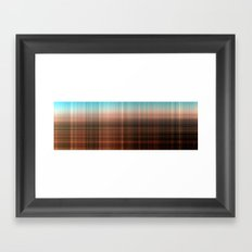 Mix Checked Framed Art Print