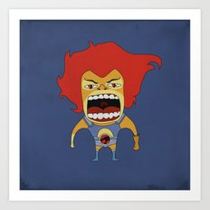 Screaming Lion-O Art Print