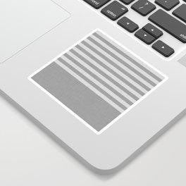 Gray color block and stripes Sticker
