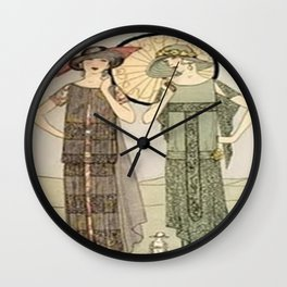 Vintage Flapper Fashion Wall Clock