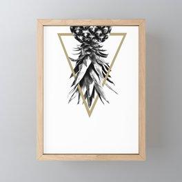 Pineapple Upside Down Geo #1 #tropical #fruit #decor #art #society6 Framed Mini Art Print