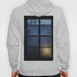 City Buildings on a Rainy Day Hoody