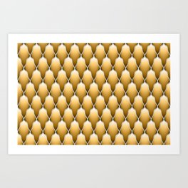 Gold Scallops Art Print