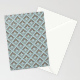 Two-toned square pattern Stationery Cards