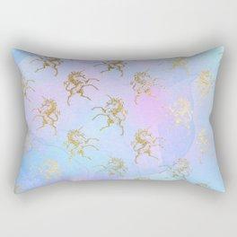 Golden Unicorn Rectangular Pillow
