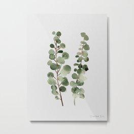 Eucalyptus (watercolor finger painting) Metal Print