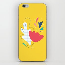Abstract flower and leaves bouquet iPhone Skin