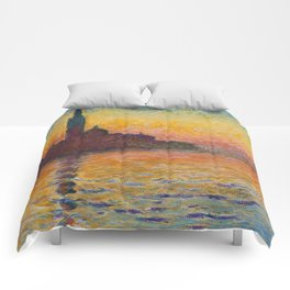Claude Monet San Giorgio Maggiore at Dusk (Venice) Comforters