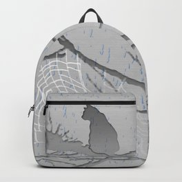 cat in the rain. Backpack