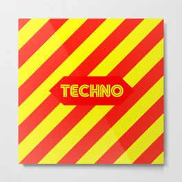 Techno music design for Techno lovers and TECHNO DJS Metal Print