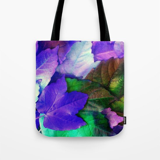 The Purple Leaves of Autumn Tote Bag