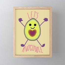 Let's Avocuddle AVOCADO Framed Mini Art Print