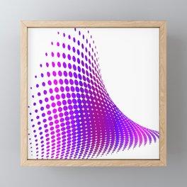 Glitch in the Dot Matrix (Purple) Framed Mini Art Print