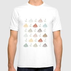 boats and anchors pattern White Mens Fitted Tee MEDIUM