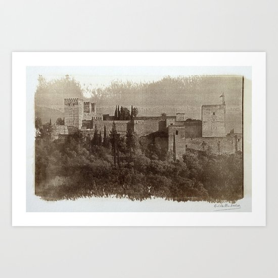 The Alhambra palace: The  Alcazaba. Calotipe Art Print