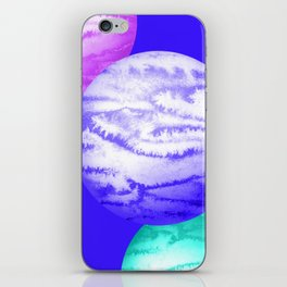 Illustration of watercolor round planet iPhone Skin