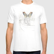 Miss Owl and butterfly friends at the Venice Carnival Mens Fitted Tee MEDIUM White