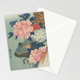 Peacock and Peonies, Utagawa Hiroshige Stationery Cards