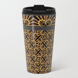 ArtDéco gold Metal Travel Mug