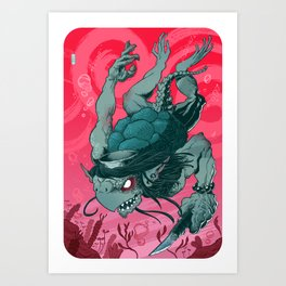 Kappa (colour version) Art Print